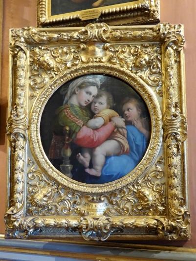 659. Palazzo Pitti. Galería Palatina. Virgen de la silla. Rafael