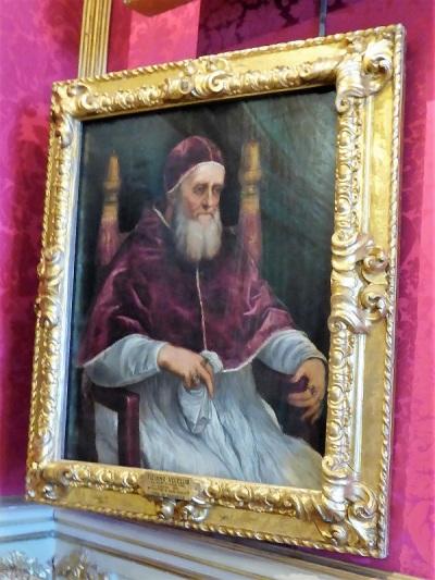665. Palazzo Pitti. Galería Palatina. Retrato del Papa Julio II. Tiziano