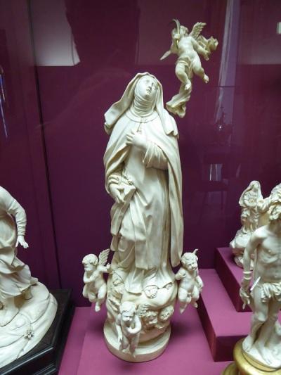 683. Palazzo Pitti. Tesoro de los Medici. Marfil. Santa Teresa. Arte flamenco. Finales del XVII