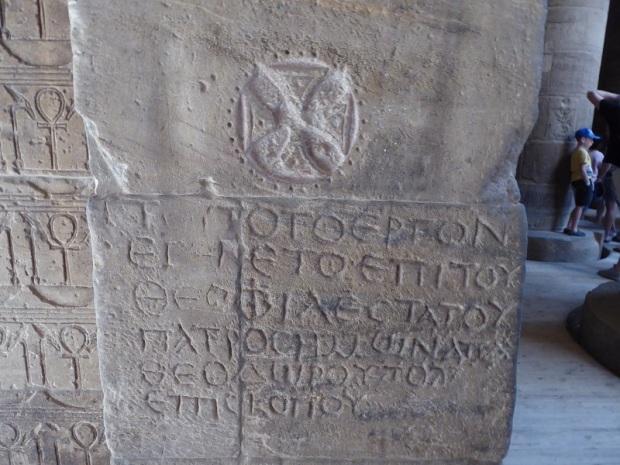 720. Templo de Filae. Inscripción cristiana en griego