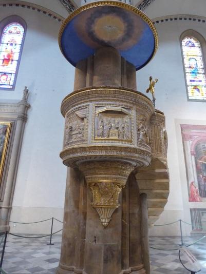 910. Santa Maria Novella. Púlpito. Pietro del Ticcia según proyecto de Brunelleschi