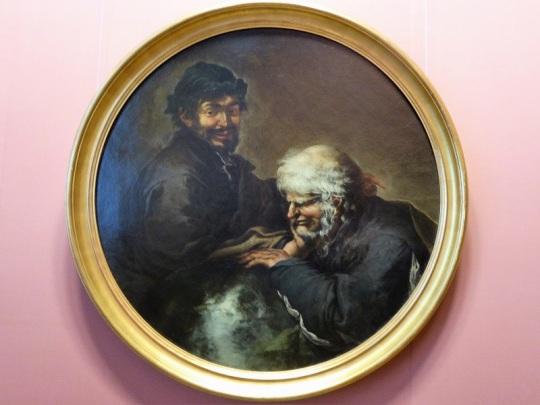 141. Museo de Bellas Artes. Heráclito y Demócrito. Salvator Rosa