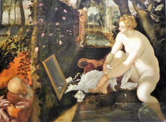 159. Museo de Bellas Artes. Susana en el baño. Tintoretto