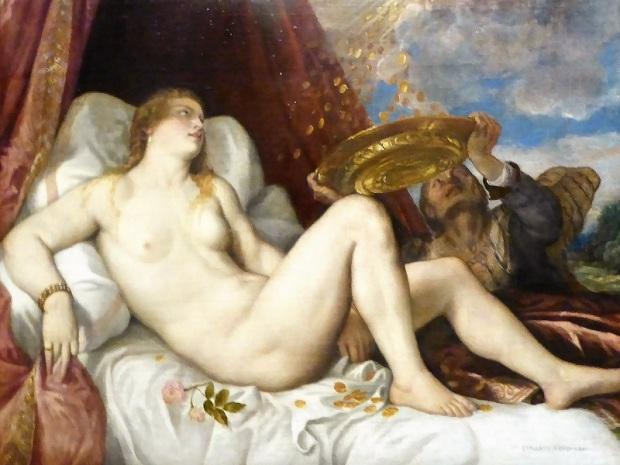 163. Museo de Bellas Artes. Dánae. Tiziano