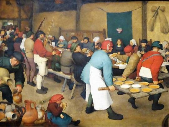 166. Museo de Bellas Artes. Boda campesina. Pieter Brueghel el Viejo