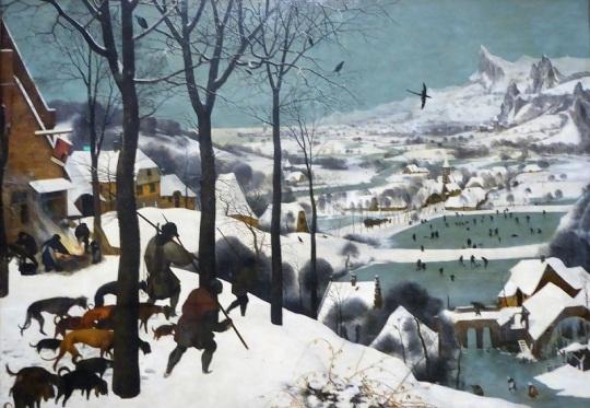 173. Museo de Bellas Artes. Cazadores en la nieve. Pieter Brueghel el Viejo