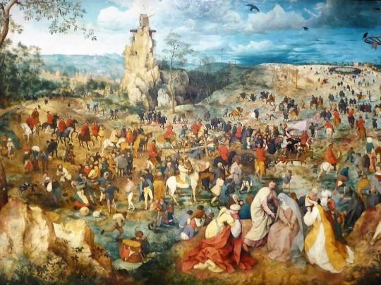 175. Museo de Bellas Artes. Subida al Calvario. Pieter Brueghel el Viejo