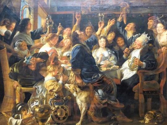177. Museo de Bellas Artes. La fiesta del rey Judía. J. Jordaens