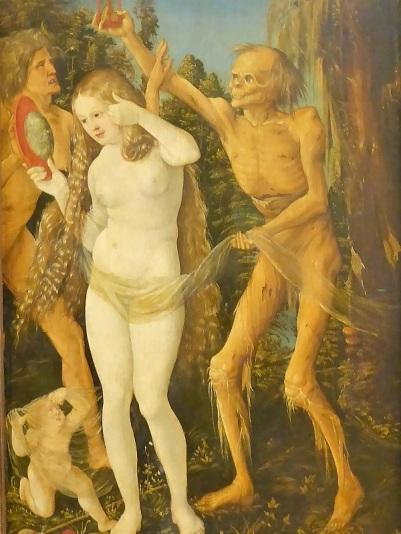 184. Museo de Bellas Artes. Las tres fases de la vida y la muerte. Hans Baldung
