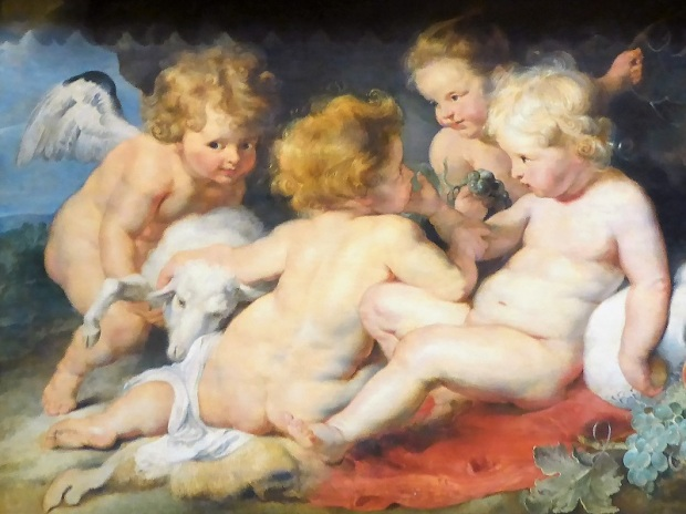 189. Museo de Bellas Artes. Cristo niño con San Juanito y ángeles. Rubens