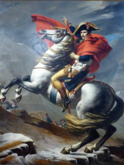 434. Oberes Belvedere. Napoleón en el Gran San Bernardo. J. L. David