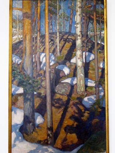 440. Oberes Belvedere. Primavera temprana. Akseli Gallén-Kallela. 1900