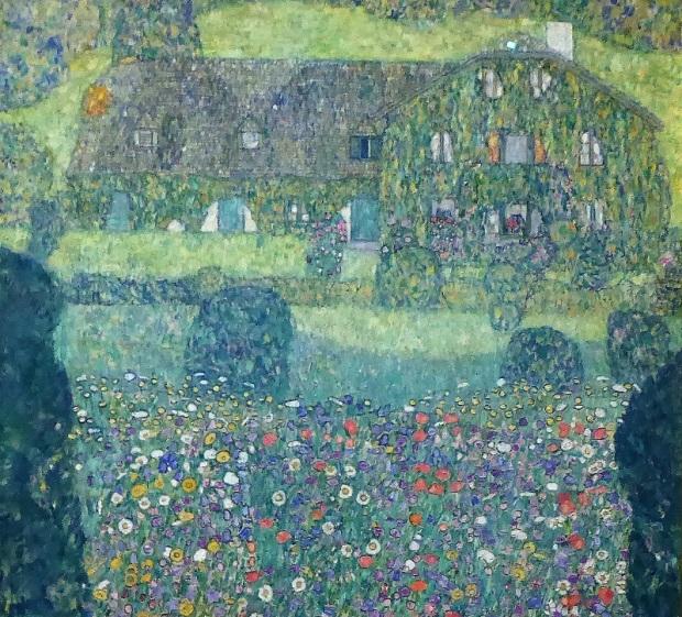 445. Oberes Belvedere. Casa forestal en el lago Arroyoblanco. G. Klimt. 1914