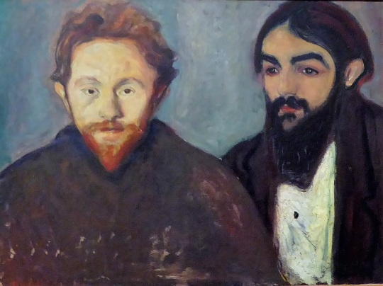 453. Oberes Belvedere. El Pintor Paul Hermann y el médico Paul Contard. E. Munch. 1897