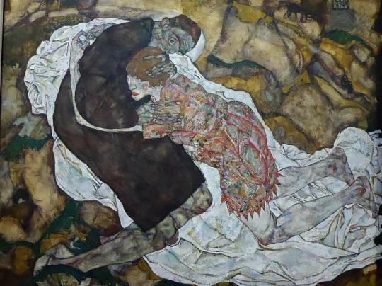 459. Oberes Belvedere. Muertos y muchachas. Egon Schiele. 1915