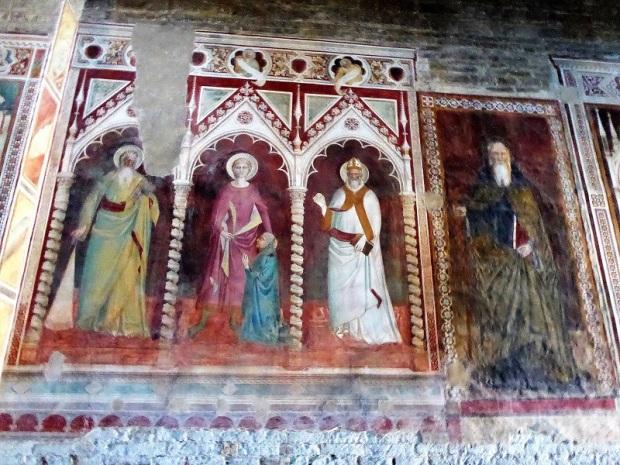 Frescos muro sur