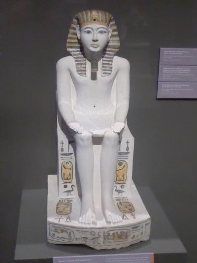 109. Museo Egipcio. Estatua de Amenhotep I