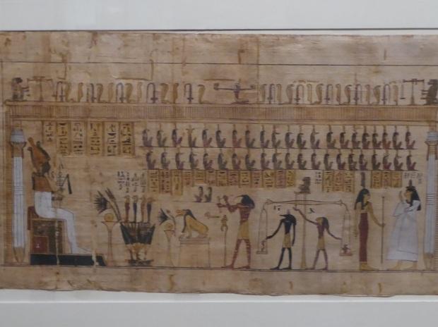 150. Museo Egipcio. Libro de los Muertos. Pesaje del corazón
