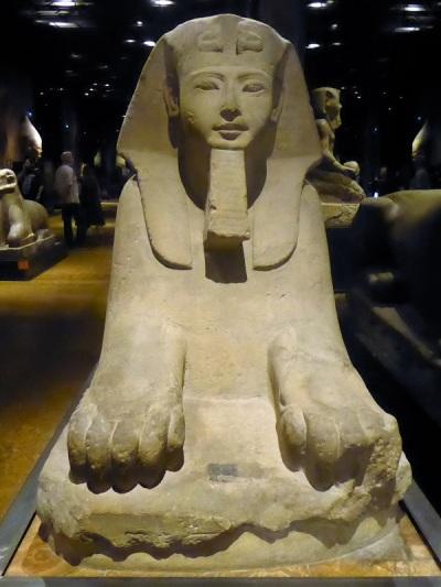 158. Museo Egipcio. Esfinge. Imperio Nuevo. XIX dinastía. 1292-1290 a. C. Templo de Amón en Karnak