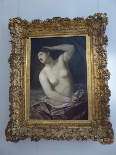 330. Palacio Real. Galería Sabauda. Muerte de Lucrecia de Guido Reni. Variante del original