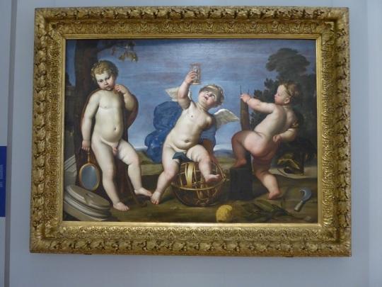 331. Palacio Real. Galería Sabauda. Alegoría de la Agricultura, Astronomía y Arquitectura de Domenichino