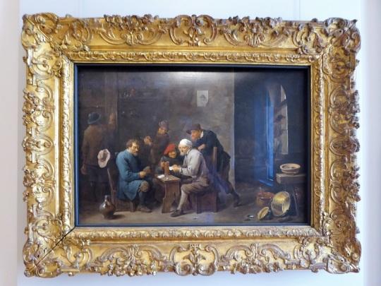 336. Palacio Real. Galería Sabauda. Jugadores de cartas de David Teniers II