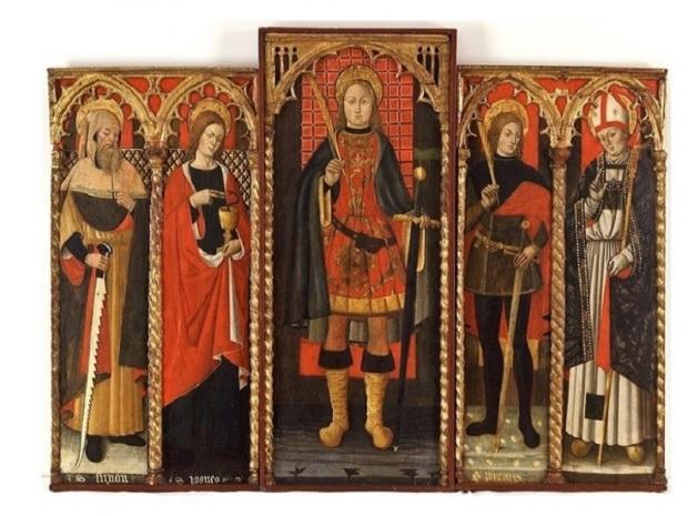 339. Palacio Real. Galería Sabauda. tabla con santos del Maestro del Políptico de Boston