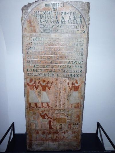 51. Museo Egipcio. Estela del superintendente del canciller Meru. Imperio Medio. XI dinastía