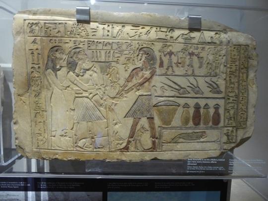 68. Museo Egipcio. Estela. Primer período intermedio. VI dinastía. 2190-2052 a. C.