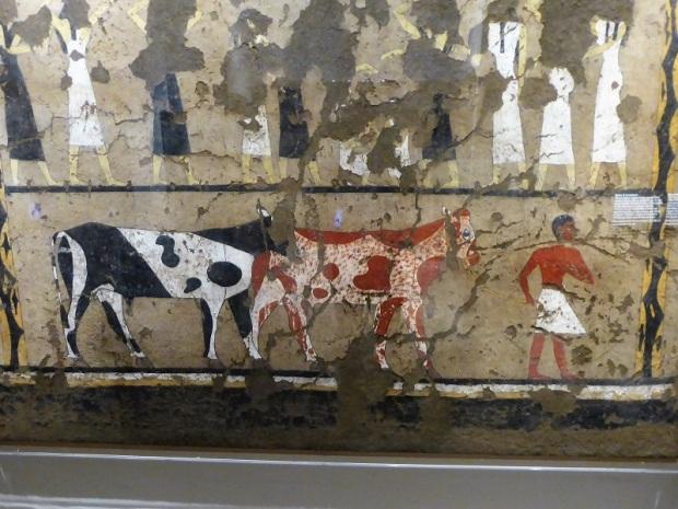 75. Museo Egipcio. Escena de cortejo fúnebre. Primer período intermedio. 2118-1980 a. C.