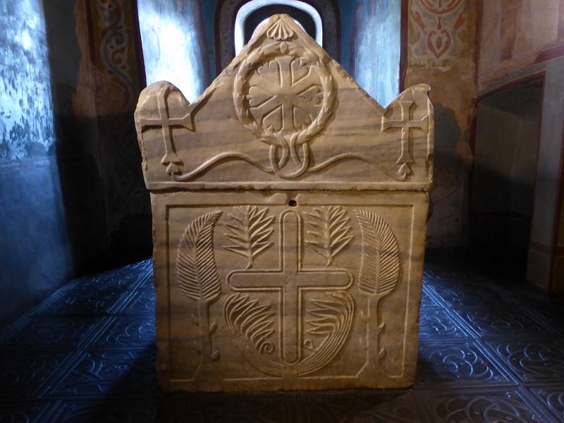 139. Catedral de Santa Sofía. Nave lateral norte 1. Sarcófago de Yaroslav el Sabio