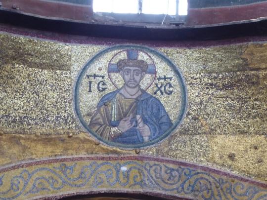 492. Catedral de Santa Sofía. Nave central. Mosaico de Cristo