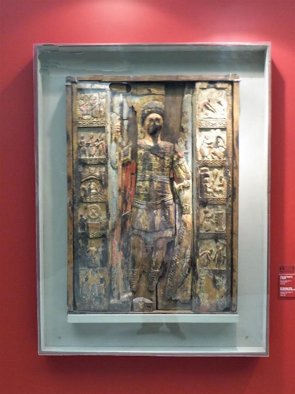 509. Museo de Bellas Artes. San Jorge con escenas de su vida. Arrte bizantino. Siglo XII