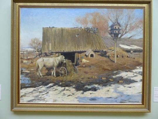 516. Museo de Bellas Artes. Patio a principio de la Primavera. Serhii Svitoslavskyi. 1913