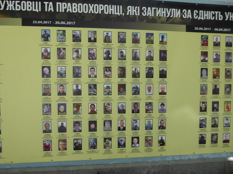 71. Muro exterior de San Miguel de las Cúpulas Doradas. Recuerdo a los muertos en la guerra 2014-2018